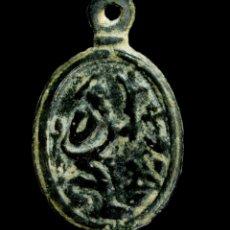 Antigüedades: MEDALLA RELIGIOSA SIGLOS XVI-XVII, 27X17 MM.. Lote 179377983