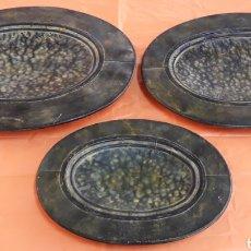 Antigüedades: LOTE 3 BANDEJAS ANTIGUAS. Lote 179382612