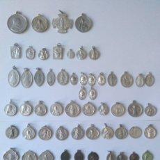 Antigüedades: COLECCION DE MEDALLAS ANTIGUAS 56 UNIDADES. Lote 179383713