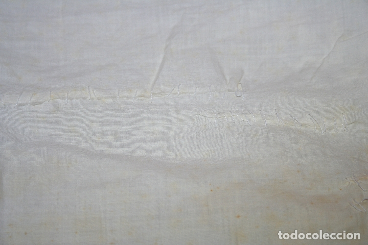 Antigüedades: ANTIGUA FUNDA DE ALMOHADA CON PRECIOSOS BORDADOS A MANO - Foto 13 - 179390221