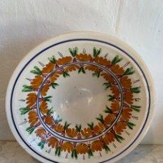 Antigüedades: LEBRILLO DECORADO A MANO. Lote 179390370