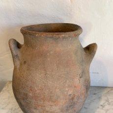 Antigüedades: ANTIGUO PUCHERO DE BARRO. Lote 179395012