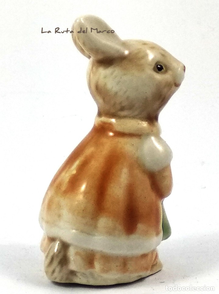 Antigüedades: Golden Rose Giftware - Conejita - Figura de porcelana - Pintada a mano - Alemania - Años 60 - Foto 3 - 179395320