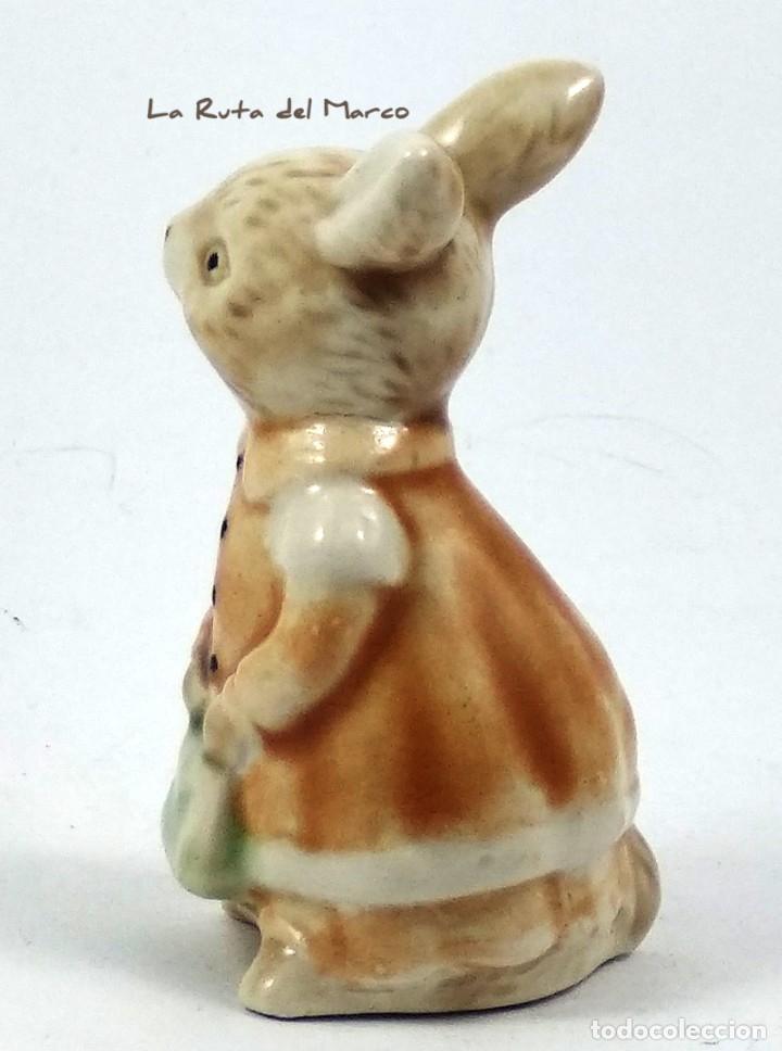 Antigüedades: Golden Rose Giftware - Conejita - Figura de porcelana - Pintada a mano - Alemania - Años 60 - Foto 5 - 179395320