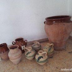 Antigüedades: LOTE VASIJAS CERÁMICA ANTIGUA. Lote 179404497