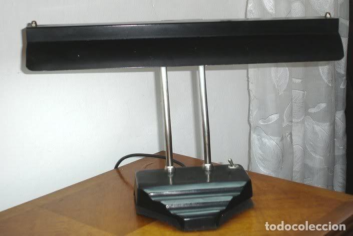Antigüedades: LAMPARA DE MESA ESTILO ART DECO, aja, FUNCIONA. - Foto 4 - 29305097