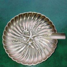 Antigüedades: CENICERO DE PLATA DE LEY. Lote 179517120