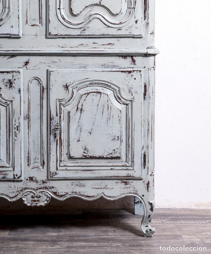 Antigüedades: Armario Antiguo Francés Restaurado Donatien - Foto 7 - 179520981