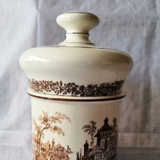 Antigüedades: FABULOSO POTE - TARRO - ALBARELO DE FARMACIA DE LA CARTUJA PICKMAN SEVILLA CON SELLO EN LA BASE. Lote 179531702