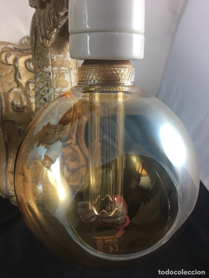 Antigüedades: Pareja apliques dragones de madera tallada ,bombillas -tulipas incluidas -(19313) - Foto 4 - 179537105