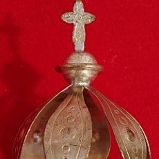 Antigüedades: CORONA AUREOLA REPLANDOR METAL PLATEADO PARA IMAGEN. Lote 179538636