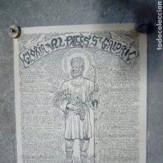 Antigüedades: CARTEL DE SANT. Lote 179545288