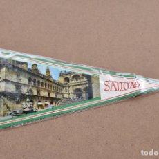 Antigüedades: BANDERIN DE SANTIAGO AL DORSO SANTIAGO APOSTOL PATRON DE ESPAÑA. Lote 179545390