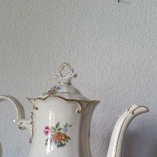 Antigüedades: PARA SERVIR SEU CAFE MAGNIFICO BUL EN PORCELANA SELADO GERMANY CARMEN.620Y 829. 69 JLMENAU. Lote 179546588
