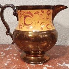 Antigüedades: JARRA EN CERÁMICA ESMALTADA CON REFLEJOS METÁLICOS - BRISTOL, INGLATERRA.SIGLO - XIX.. Lote 179550695