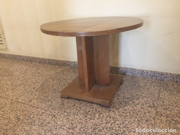 Antigüedades: Mesa de centro en madera de roble estilo Art Decó - Foto 3 - 179558422