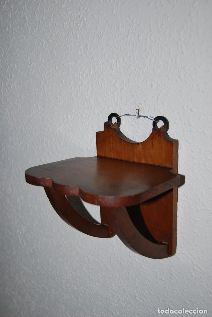 PEQUEÑA MÉNSULA DE MADERA - BALDA - REPISA - AÑOS 40 (Antigüedades - Muebles Antiguos - Ménsulas Antiguas)