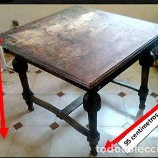 Antigüedades: MESA DE MADERA AÑOS 50-60. Lote 179939502