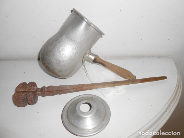 Antigüedades: CHOCOLATERA DE ALUMINIO - Foto 2 - 179955470