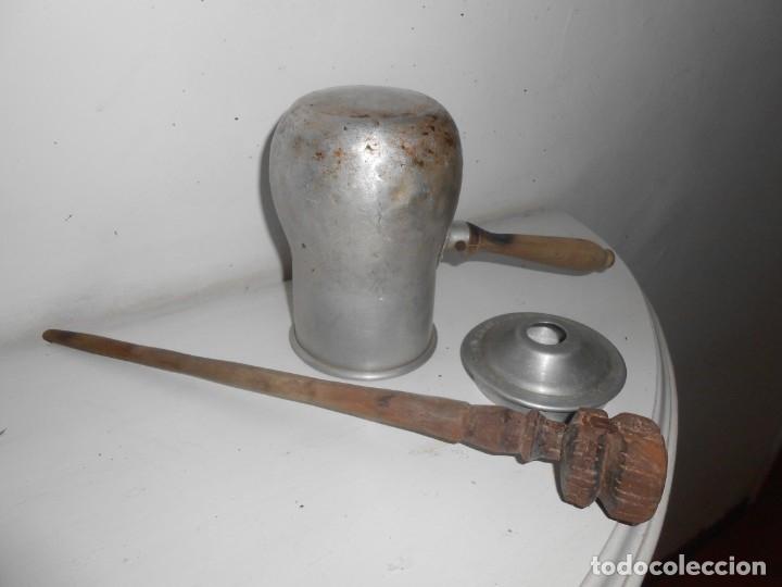 Antigüedades: CHOCOLATERA DE ALUMINIO - Foto 3 - 179955470