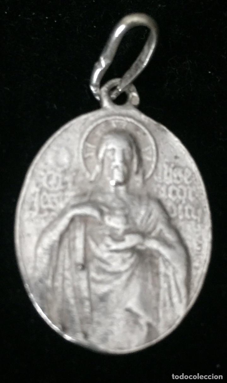 Antigüedades: ANTIGUOS COLGANTES RELIGIOSOS EN PLATA ANTIGUA - Foto 3 - 179956583