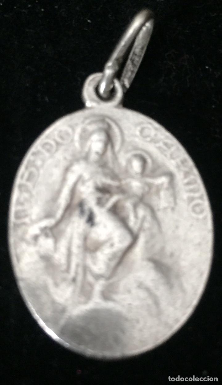 Antigüedades: ANTIGUOS COLGANTES RELIGIOSOS EN PLATA ANTIGUA - Foto 4 - 179956583