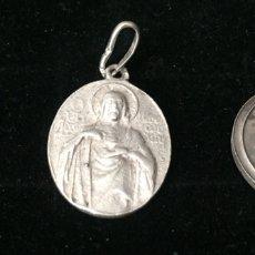 Antigüedades: ANTIGUOS COLGANTES RELIGIOSOS EN PLATA ANTIGUA. Lote 179956583