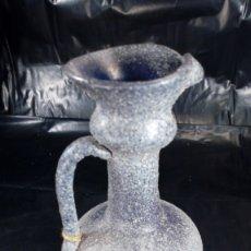 Antigüedades: JARRA EN CRISTAL DE LAFIORE, SIGUIENDO MODELOS DE ANTIGUAS PIEZAS ROMANAS, REALIZADA A MANO.. Lote 179956935