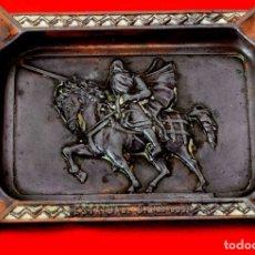 Antigüedades: CURIOSO CENICERO VINTAGE ESTATUA DEL CID CAMPEADOR (BURGOS). Lote 179957755