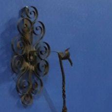 Antigüedades: CANDIL ANTIGUO CON SOPORTE. Lote 180008881