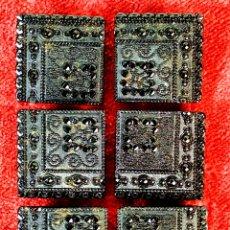 Antigüedades: CONJUNTO DE BOTONES ART DÉCO. CRISTAL DE GRAN BRILLO. ESPAÑ. CIRCA 1920. Lote 180010736