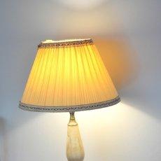 Antigüedades: LAMPARA MODERNISTA DE BRONCE Y MARMOL . Lote 180011835