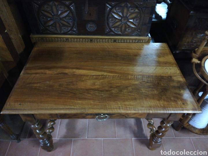 Antigüedades: Mesa nogal restaurada - Foto 2 - 180011957
