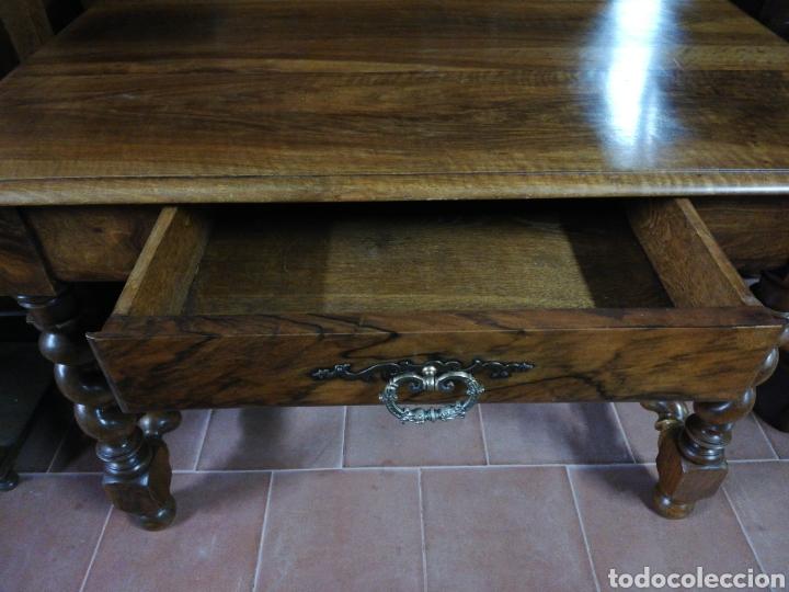 Antigüedades: Mesa nogal restaurada - Foto 3 - 180011957