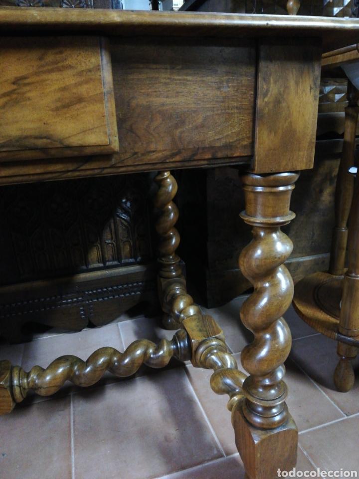 Antigüedades: Mesa nogal restaurada - Foto 4 - 180011957