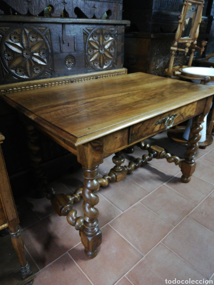 Antigüedades: Mesa nogal restaurada - Foto 6 - 180011957