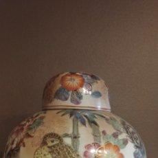 Antigüedades: BONITO TIBOR O JARRON MADE IN CHINA CON SELLO. Lote 180017935