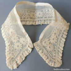 Antigüedades: ANTIGUO CUELLO DE ENCAJE DE BOBINE Y VALENCIENNES PPIO.S.XX. Lote 180035016