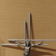 Antigüedades: CRUCIFIJO PARED CRISTO EN HIERRO MACIZO. Lote 180038388