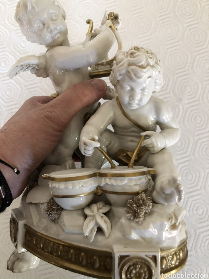 Antigüedades: Grupo de ángeles músicos en porcelana de Algora, Circa 1960 - Foto 7 - 180044636