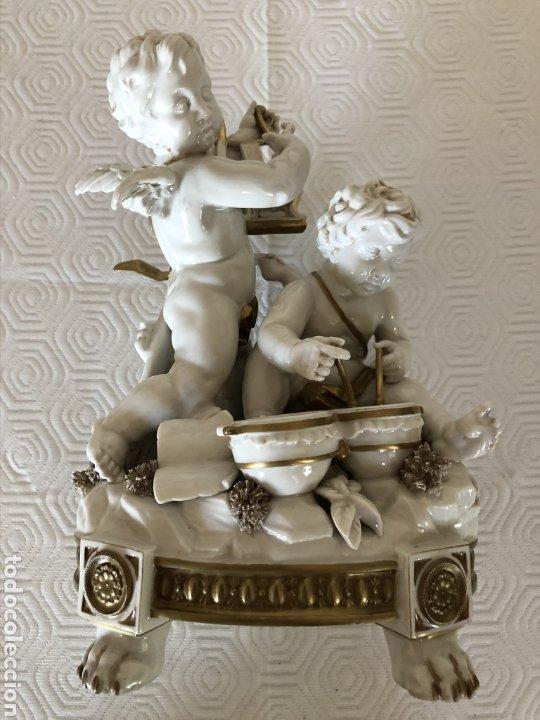 Antigüedades: Grupo de ángeles músicos en porcelana de Algora, Circa 1960 - Foto 2 - 180044636