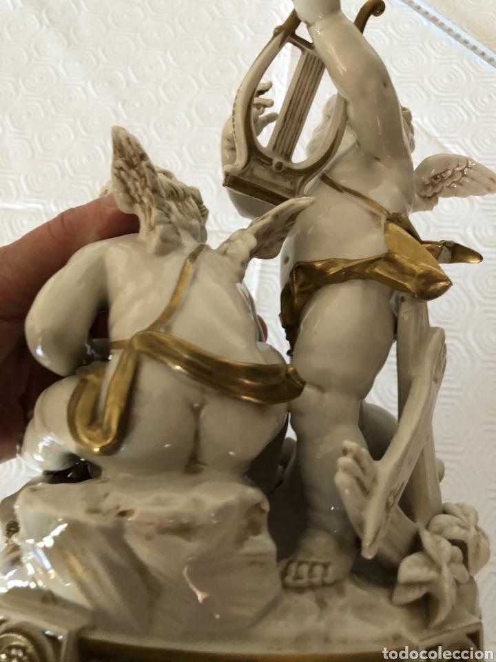 Antigüedades: Grupo de ángeles músicos en porcelana de Algora, Circa 1960 - Foto 5 - 180044636