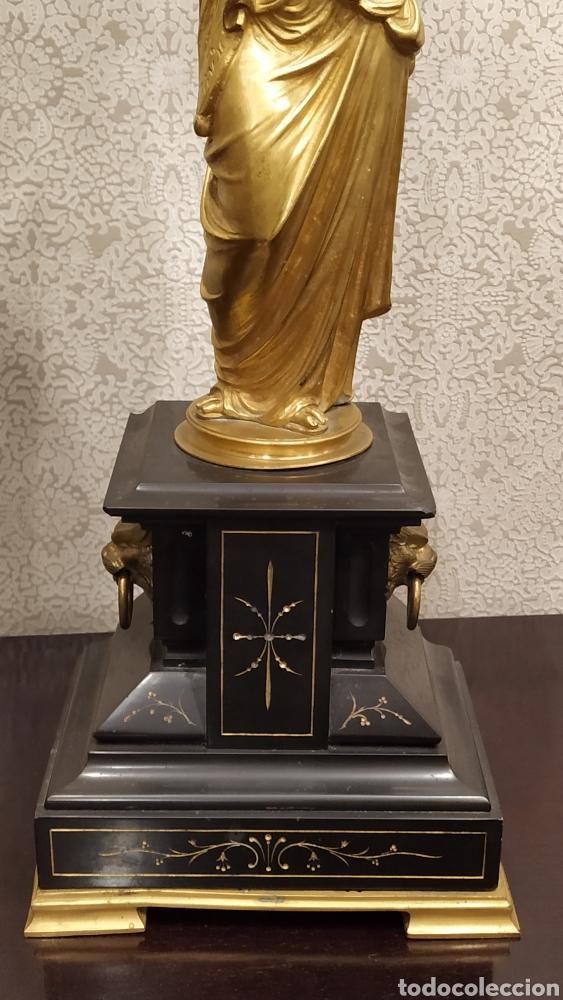 Antigüedades: Pareja de candelabros Imperio. Candelabros bronce antiguos. Francia siglo XIX. - Foto 15 - 180081517