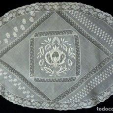 Antigüedades: ANTIGUO ENCAJE DE NORMANDIA S. XIX. Lote 180084065