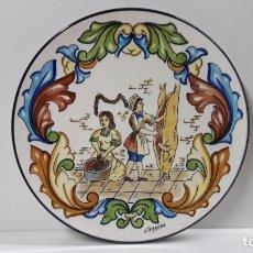 Antigüedades: PLATO PARA COLGAR - LA MATANZA . REALIZADO POR CERAMAR . MADE IN SPAIN . DIAMETRO 31 CM. Lote 180085357