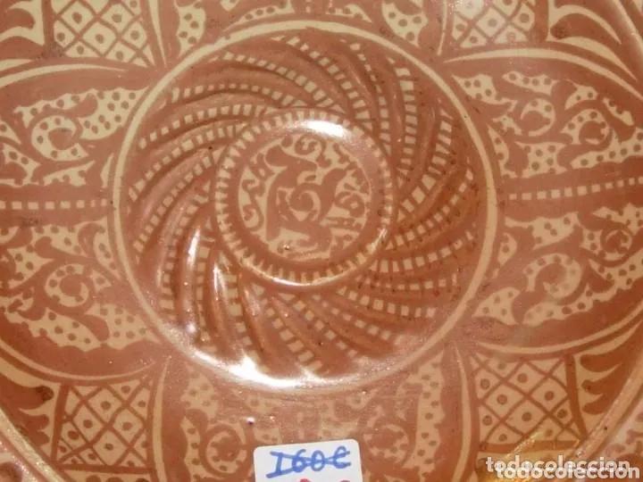 Antigüedades: Plato Manises, reflejos metalicos - Foto 5 - 180088031