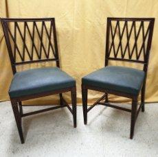 Antigüedades: PAREJA DE SILLAS. Lote 180090348