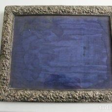Antigüedades: MARCO DE PLATA CON CRISTAL. . Lote 180090965