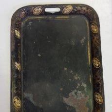 Antigüedades: BANDEJA METAL ESTILO MODERNISTA - CAR30. Lote 180097900