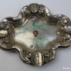 Antigüedades: CENICERO DE PLATA CON MONEDAS. MEDIADOS S .XX.. Lote 180101797